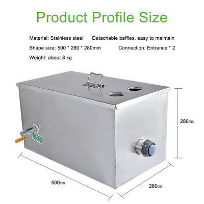 Stainless Steel Grease Trap Interceptor for Restaurant Kitchen Wastewater 2