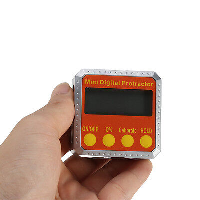 Electronic Angle Gauge Meter Digital Inclinometer Protractor 360° Magnetic Base 7