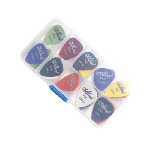 24-100PCS Acoustic Electric Guitar Picks Plectrum Various 6 Thickness with Case 4