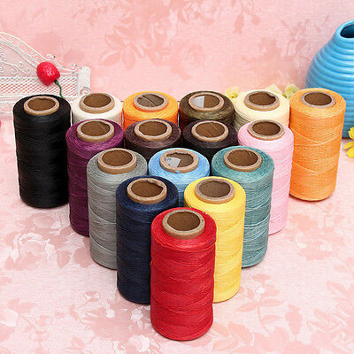 Sewing Waxed Thread Yarn For Crafts Leather Shoes All Purpose 260m 1mm 16Colors 3