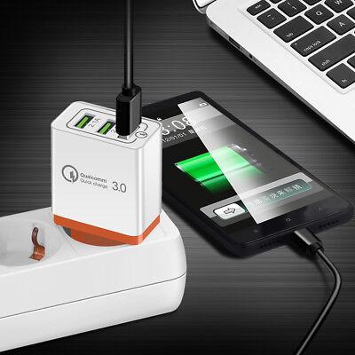 Universal 3 Port Fast Quick Charge QC3.0 USB Hub Wall Charger Adapter EU US Plug 4