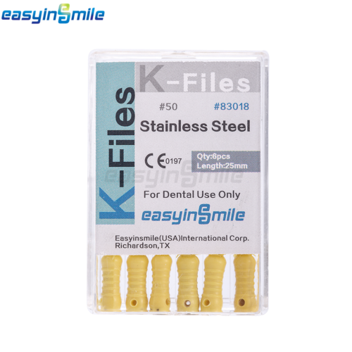 10XDental Endo Root Canal File K-FILES Stainless Steel Hand Use 25mm EASYISNMILE 5