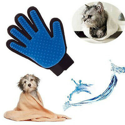 Pet Grooming Glove Brush Loose Hair Remover Fur Massage Removal Tool for Dog Cat 5