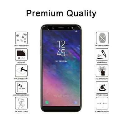 VERRE SAMSUNG A6 Plus A7 A8 A9 2018 FILM PROTECTION VERRE TREMPE ECRAN LOT1/4 6