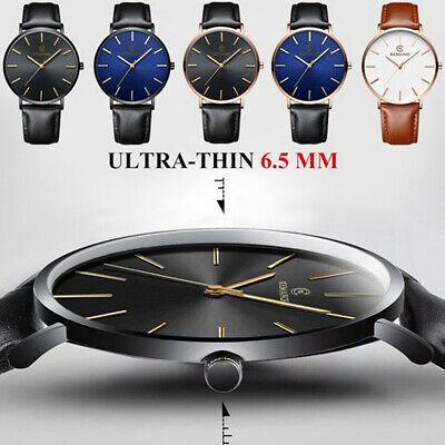 Men Sport Watch Genuine Leather Strap Automatic Wrist Watch Mechanical Watches 3