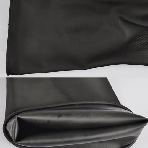 Schwarze Latex Stulpen HandschuheSäure- und laugenb Industriell  Naturkautschuk 12