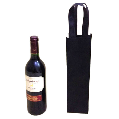 1/5/10Pc Non-woven Bag Single Bottle Red Wine Tote Holder Gift Reusable Washable