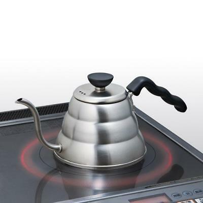 Hario Small Stainless Steel Buono V60 Pourover Kettle Steel, 1 Litre, Pack of 3