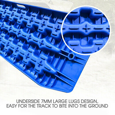NEW Pair Recovery Tracks Sand Track 2pc 10T Sand / Snow / Mud Trax 4WD Blue 5