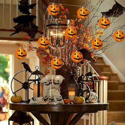 10 LED Pumpkin String Fairy Lights Lantern Party Home Props Halloween Decoration 3