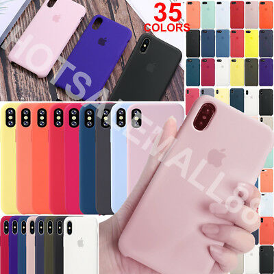 Funda Para iPhone X XR XS Max 8 7 6s Plus Original carcasas de Silicona Genuina 4
