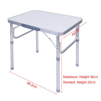 Portable aluminum folding camping table height adjustable - Camping table adjustable height ...
