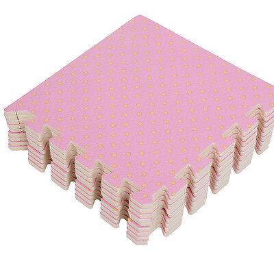9tlg EVA Puzzlematte Puzzleteppich Bodenschutz Schutzmatte Kinderteppich 30x30cm