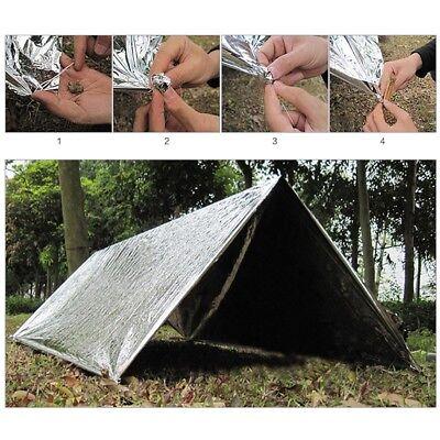Outdoor Survival Emergency Mylar Waterproof Sleeping Bag Foil Thermal Blanket 3
