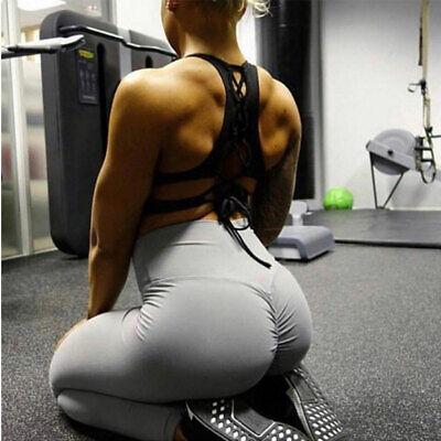 Womens Sports Scrunch Butt Lift Push Up Ladies Running Gym Leggings Yoga Pants 8
