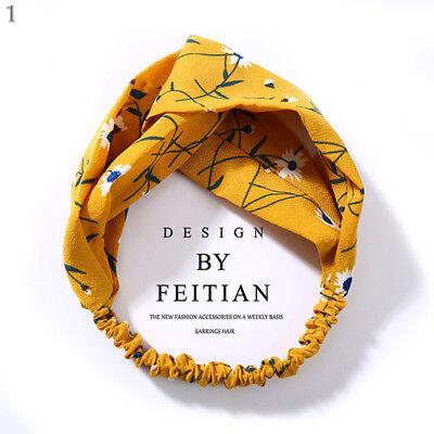 Women Girl Turban Stripe Elastic Head Wrap Headband Twisted Knotted Spa Hairband 7