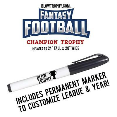 """Fantasy Football Trophy Blow Trophy GIANT Inflatable 24"""" x 20"""" Annual Perpetual 8"""