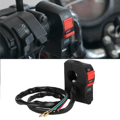 12V ABS Motorcycle Handlebar Charger Switch USB Motorbike Phone Charger 5