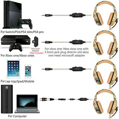 ONIKUMA K1 Stereo Bass Surround Gaming Headset for PS4 New Xbox One PC with Mic 9