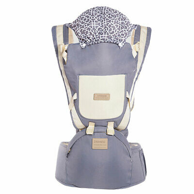 Ergonomic Infant Baby Carrier With Hip Seat Stool Adjustable Wrap Sling Backpack 12