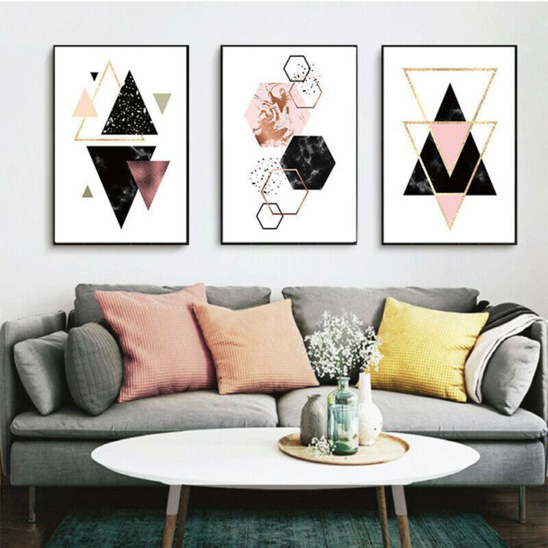 Nordic Style Geometric Art Canvas Painting Wall Print Picture Poster Home Decor 8