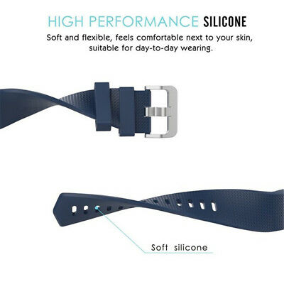FOR Fitbit CHARGE 2 Replacement Silicone Rubber Band Strap Wristband Bracelet 3