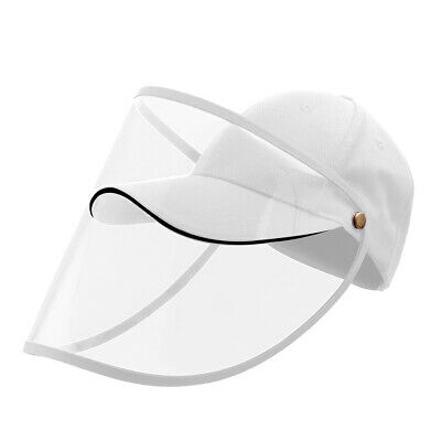 Full Face Covering Shield Anti Saliva Visor Baseball Cap Hat Protective Cover 4
