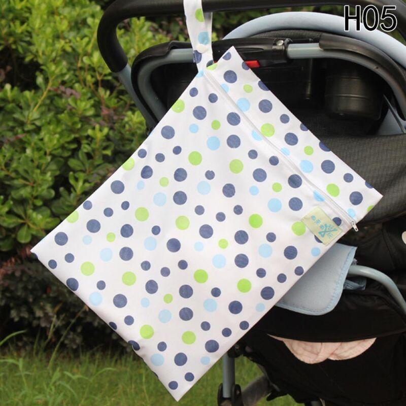Infantil impermeable Zip Bolsa seca húmeda Paño bebé Pañal Bolsa Reutilizable 11