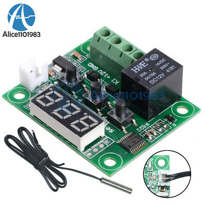 DC12V Red W1209 Digital thermostat Temperature Controler -50-110°C  + Sensor 12