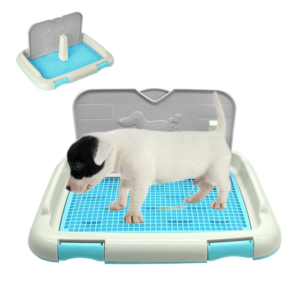 Bandeja Baño Portátil Mascotas Perro gato Recipiente Orina Inodoro Entrenamiento 2