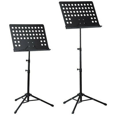 Orchestral Sheet Music Stand Tripod Height Angle Adjustment Portable Folding+Bag 9