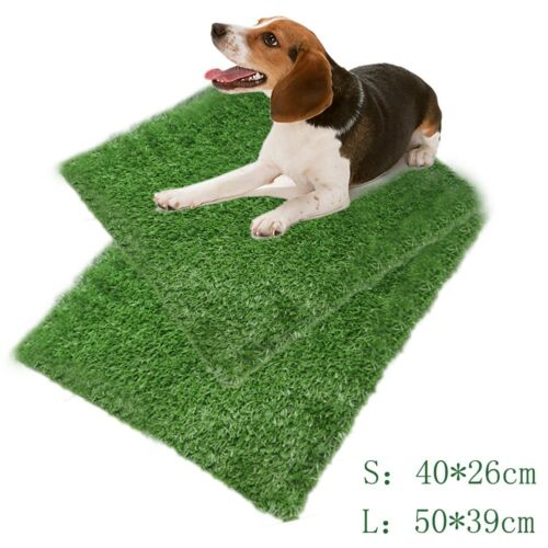 Puppy Potty Trainer Indoor Training Toilet Pet Dog Grass Pad Pee Mat-Patch-Hot 7