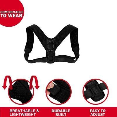 Corrector de Postura espalda unisex,correa ajustable 70 a 110 cm,reduce el dolor 3
