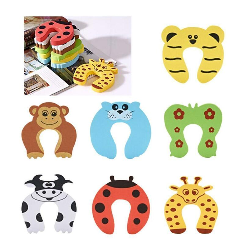 1Pc Baby Safety Foam Door Jammer Guard Finger Protector Stoppers Animal new 5
