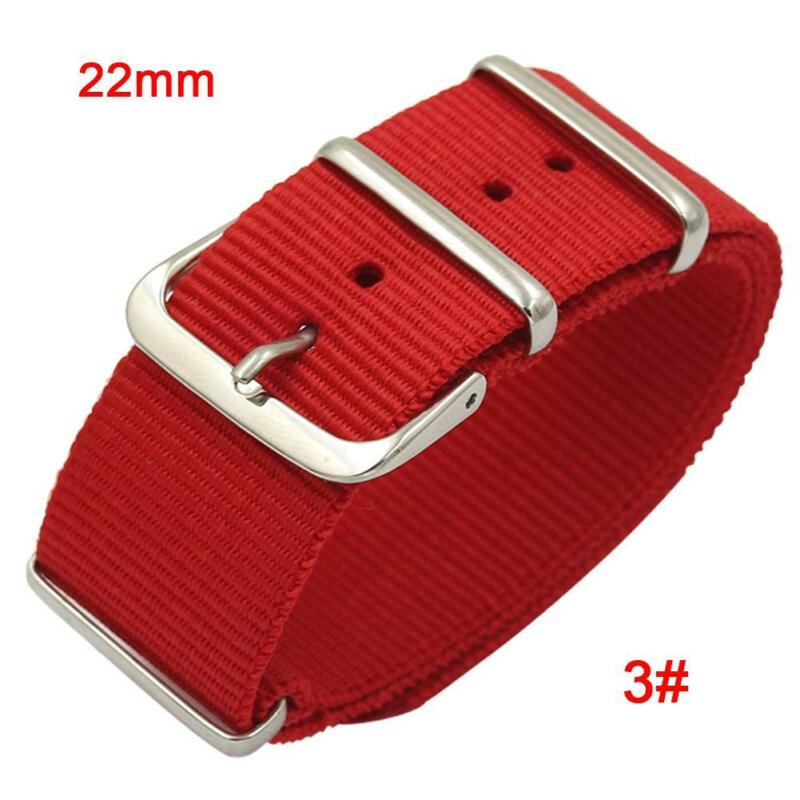 18/20/22mm Ballistic Military Nylon Nato Watch Band Sports Fabric Wrist Straps 5