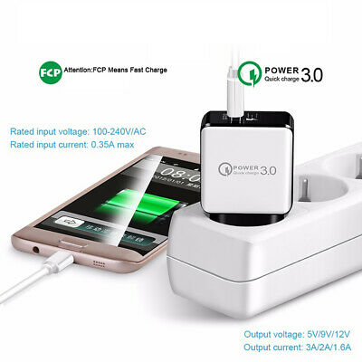Quick Charge 3.0 USB 5V 3A Phone Wall Home Travel Fast Charger Adapter Charm New 8