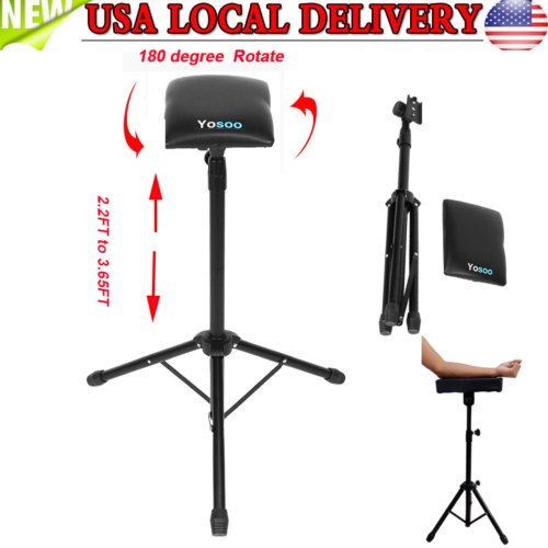 Adjustable Foldable Tattoo Tripod Stand For Arm Leg Rest Studio Chair Sponge Pad 2