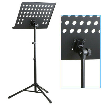 Orchestral Sheet Music Stand Tripod Height Angle Adjustment Portable Folding+Bag 8