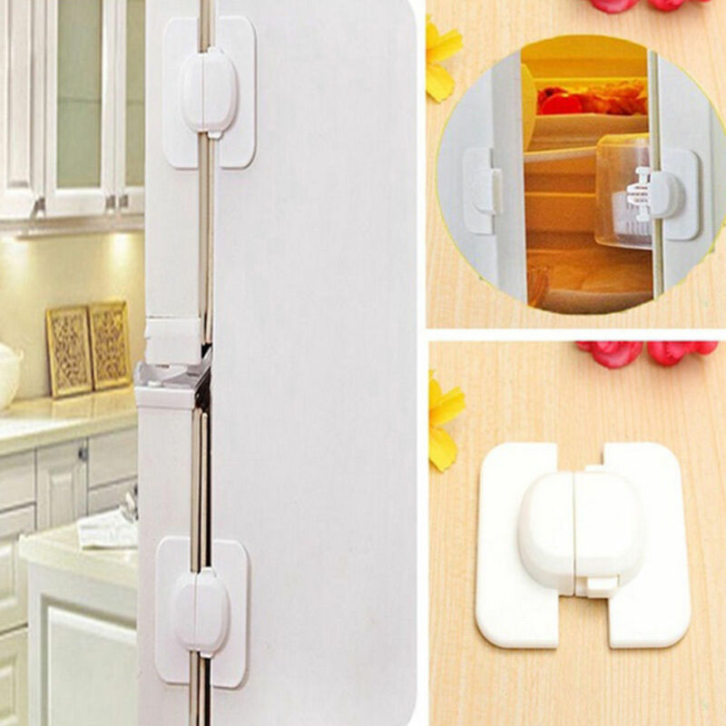 1PC Child Baby Safety Door Lock Proof Cupboard Fridge Cabinet Prevent Clamping 3