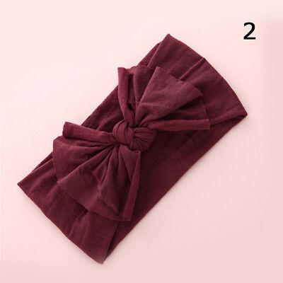 Baby Girls Kids Toddler Bow Hairband Headband Stretch Turban Knot Head Wrap H9 3