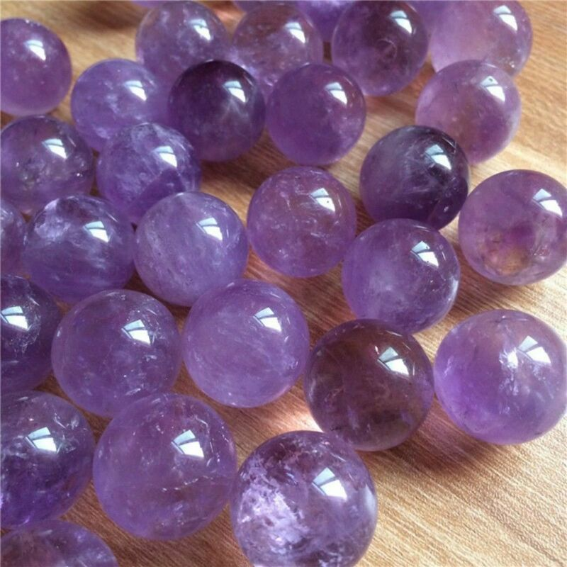 1Pc Natural Amethyst Quartz Stone Sphere Crystal Fluorite Ball Healing Gemstone 5