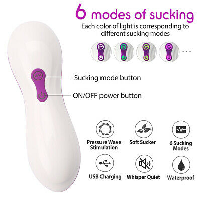 Clitoral Sucking Vibrator w/ 10 Suction Kissing Vibration Modes for Women Female 3