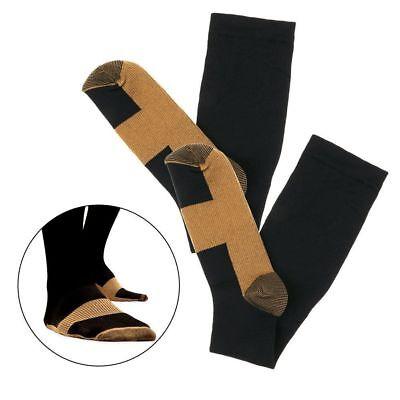 (3 Pairs) Copper Infused Compression Socks 20-30mmHg Graduated Mens Womens S-XXL 12