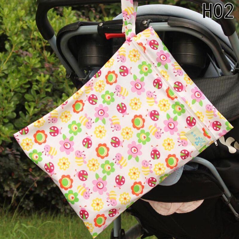 Infantil impermeable Zip Bolsa seca húmeda Paño bebé Pañal Bolsa Reutilizable 8