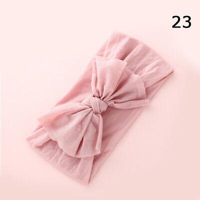 Baby Girls Kids Toddler Bow Hairband Headband Stretch Turban Knot Head Wrap H9 10
