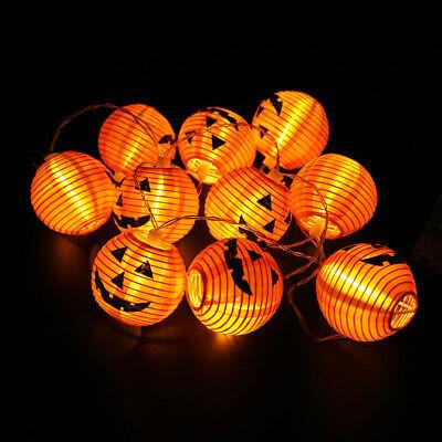 10 LED Pumpkin String Fairy Lights Lantern Party Home Props Halloween Decoration 5
