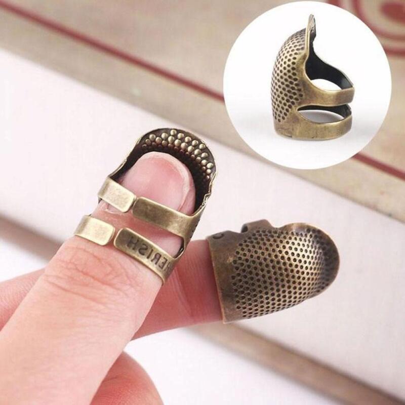 Fingerhut Finger Beschützer Metall Nähen Antik Messing Nadeln Stickerei Sup V4Q0