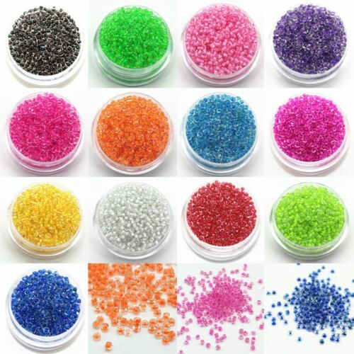 1200Pcs 2mm Round Czech Glass Seed Spacer Loose Beads Jewelry DIY Making Z9I5
