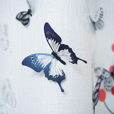 18X DIY 3D Schmetterling Wand Kunst Aufkleber PVC Schmetterlinge ...