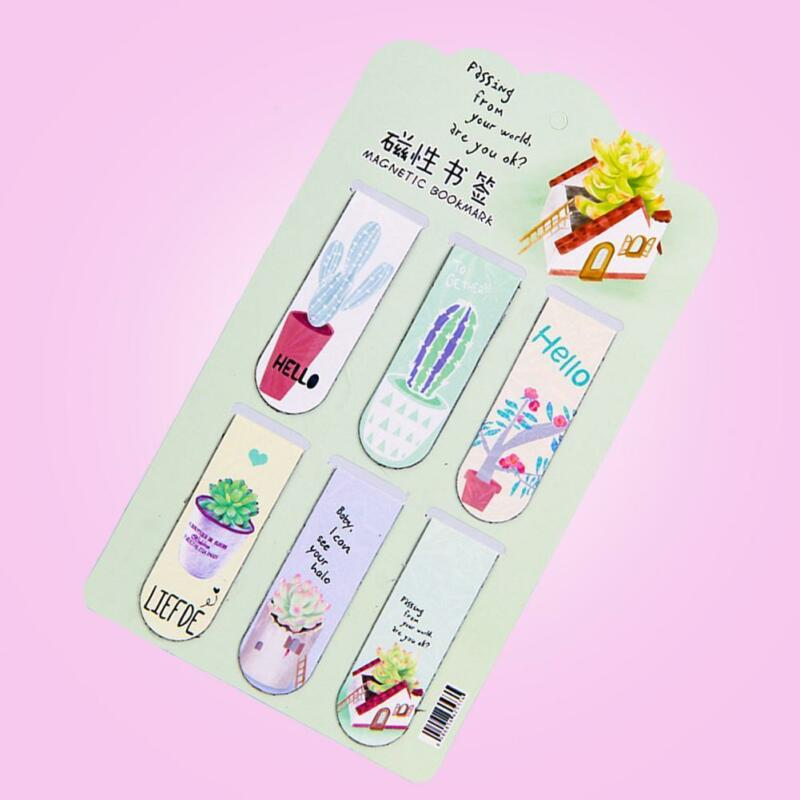 Fresh Cactus Magnetic Bookmarks Books Marker of Page-Stationery 4